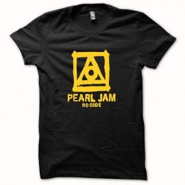 Tee shirt Pearl Jam no code jaune/Noir mixtes tous ages