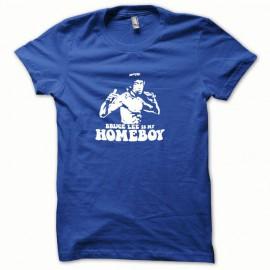 Tee shirt Bruce Lee blanc/bleu royal mixtes tous ages