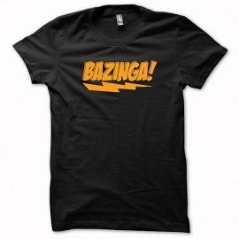 Tee shirt Sheldon Cooper expression Bazinga orange/noir mixtes tous ages