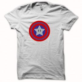 Tee shirt all stars parodie nintendo blanc