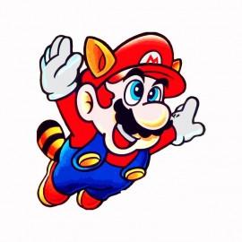 Tee shirt Mario bros 2 parodie nintendo blanc