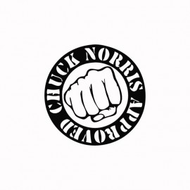 Tee shirt Chuck Norris noir/blanc