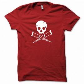 Tee shirt Jackass  blanc/rouge