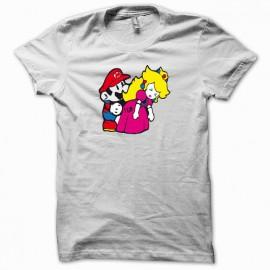 Tee shirt Mario bros fuck princess peach parodie nintendo blanc