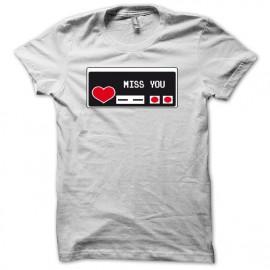 Tee shirt mannette joypad nintendo NES noir/blanc