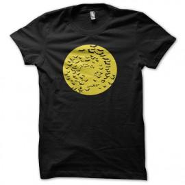 Tee shirt  chauve-souris inspiré de batman jaune/noir mixtes tous ages