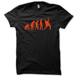 Tee shirt evolution zombi zombis noir mixtes tous ages