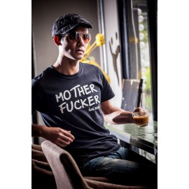 Tee shirt Californication hank moody say mother fucker blanc/noir