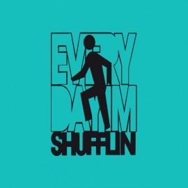 Tee shirt LMFAO Party Rock Anthem every day i m shufflin bleu/noir