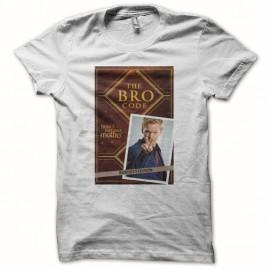 Tee shirt How i met your mother The bro code blanc