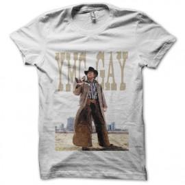 Tee shirt Chuck Norris YMC en blanc mixtes tous ages