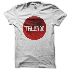 Tee shirt True Blood tâche de sang blanc