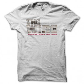 Tee shirt The Wire logo newspaper blanc