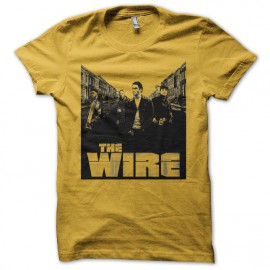 Tee shirt The Wire street jaune