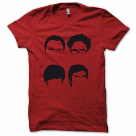 Tee shirt The Big Bang Theory parodie rouge mixtes tous ages