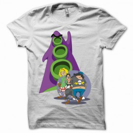 Tee shirt day of tentacle blanc mixtes tous ages