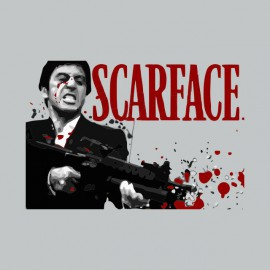 Tee shirt Scarface gore gris