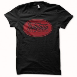 Tee shirt True Blood logo fangtasia noir