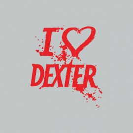 Tee shirt  love DEXTER rouge/gris