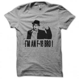 Tee shirt Charlie Sheen I'm an F-18 Bro gris mixtes tous ages