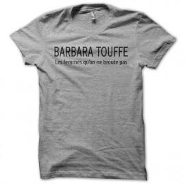 Tee shirt  Les Nuls Barbara Touffe gris