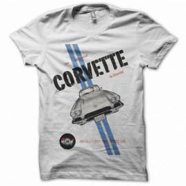 Tee shirt corvette by chevrolet vintage rare blanc mixtes tous ages