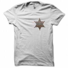 Tee shirt étoile de sheriff  blanc mixtes tous ages
