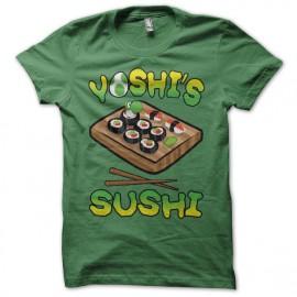 Tee shirt Yoshi's Sushi vert mixtes tous ages