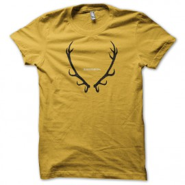 Tee shirt Le Trône de fer tee shirt Baratheon Game of thrones jaune mixtes tous ages