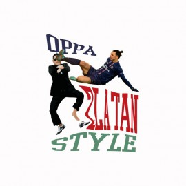 Tee shirt OPPA Zlatan Style parodie gangnam blanc