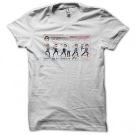 Tee shirt Gangnam Shitty Dance Lesson blanc