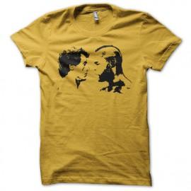 Tee shirt Rocky vs Mr T noir/jaune