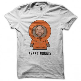 Tee shirt South Park parodie Kenny Chuck Norris blanc mixtes tous ages