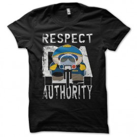 Tee-shirt Respect My Authority Cartman South Park parodie noir mixtes tous ages