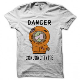 Tee-shirt Kenny Zombie South Park parodie blanc mixtes tous ages