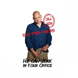 Tee shirt Charlie Runkle Californication Jerk in your office blanc