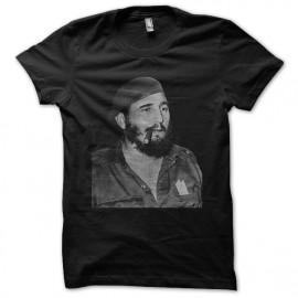 Tee shirt Fidel Castro noir mixtes tous ages