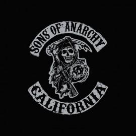 Tee shirt Sons Of Anarchy california argent/noir