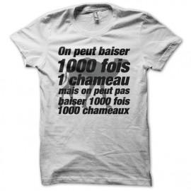 Tee shirt La cité de la peur parodie baiser chameau 1000 fois blanc