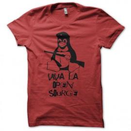 Tee shirt Tux parodie Che Guevara Viva la Open Source rouge mixtes tous ages