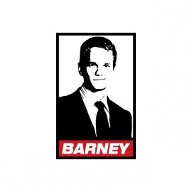 Tee shirt Barney parodie Obey How I Met Your Mother blanc
