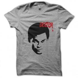 Tee shirt Dexter silhouette noire sur gris