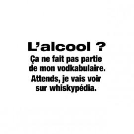Tee shirt Alcool Vodkabulaire Whiskypédia blanc