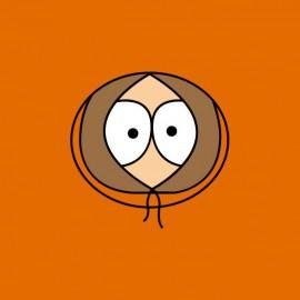 Tee shirt South Park Kenny face orange