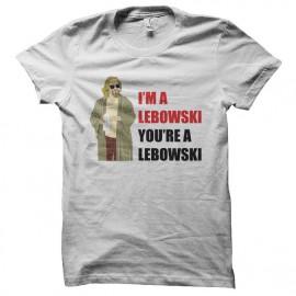 Tee shirt I'm a Lebowski you're a Lebowski blanc