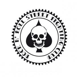 Rock N' Roll Street Fighting Club - Tee Shirt Ace of spades skull poker / as de pics crane poker  White/Blanc