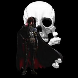 Albator.tete de mort.noir