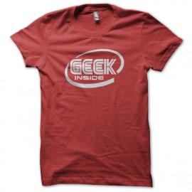 Tee Shirt Geek inside Red