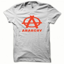 Tee shirt Anarchy orange/blanc mixtes tous ages