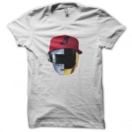 tee shirt blanc daft punk mix pharrell williams nouveau logo